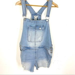 NWOT Indigo Rein Denim Romper Overalls Light Wash